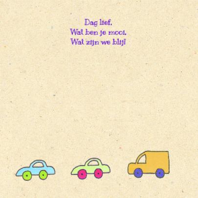 Geboortekaartje auto's 2
