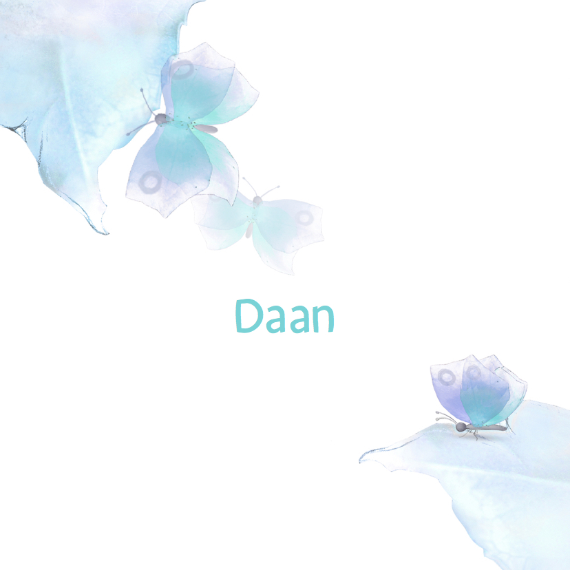 Geboortekaartje Baby Daan 3