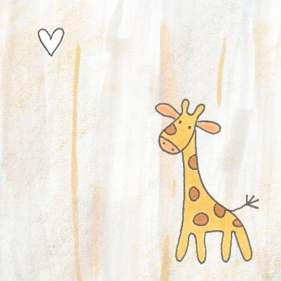 Geboortekaartje baby-giraf 2