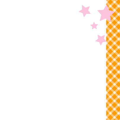 Geboortekaartje Baby Girl oranje ruitjes 3