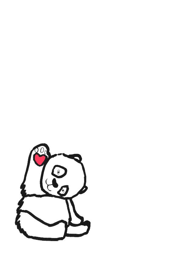 geboortekaartje beer Daantje 2
