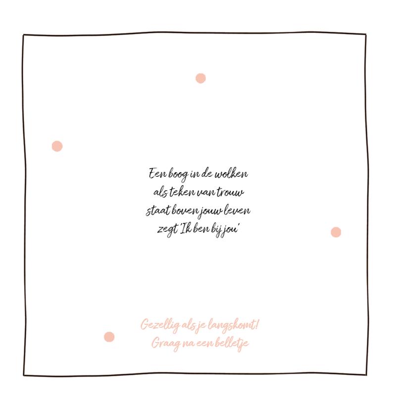 Geboortekaartje Belle confetti 2