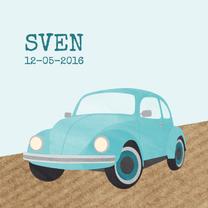 Geboortekaartjes - Geboortekaartje blauw autootje