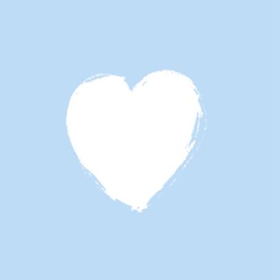 Geboortekaartje blauwe hartjes 2