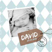 Geboortekaartjes - Geboortekaartje blauwe wieber