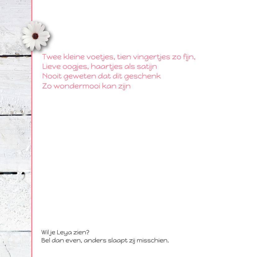 Geboortekaartje-bloem-Leya-SK 2