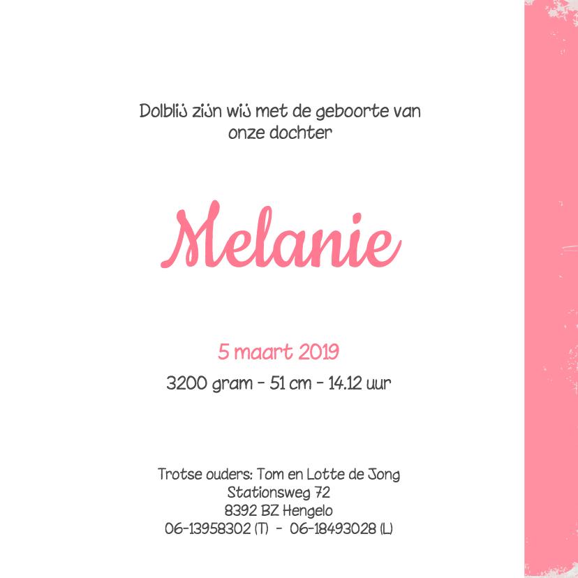 Geboortekaartje-bloem-Melanie 3
