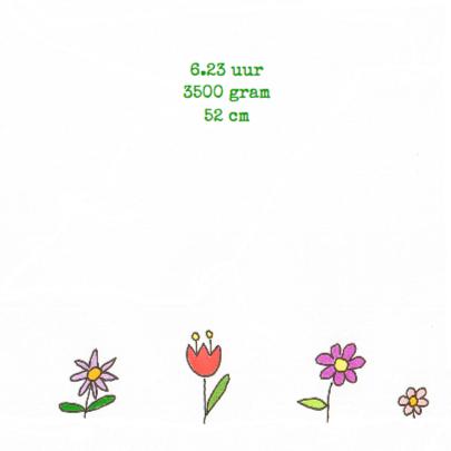 geboortekaartje bloemen 2