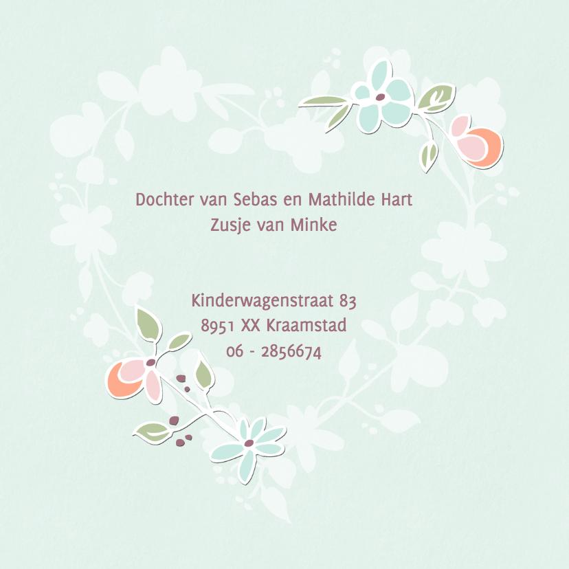 Geboortekaartje Bloemenhart 2