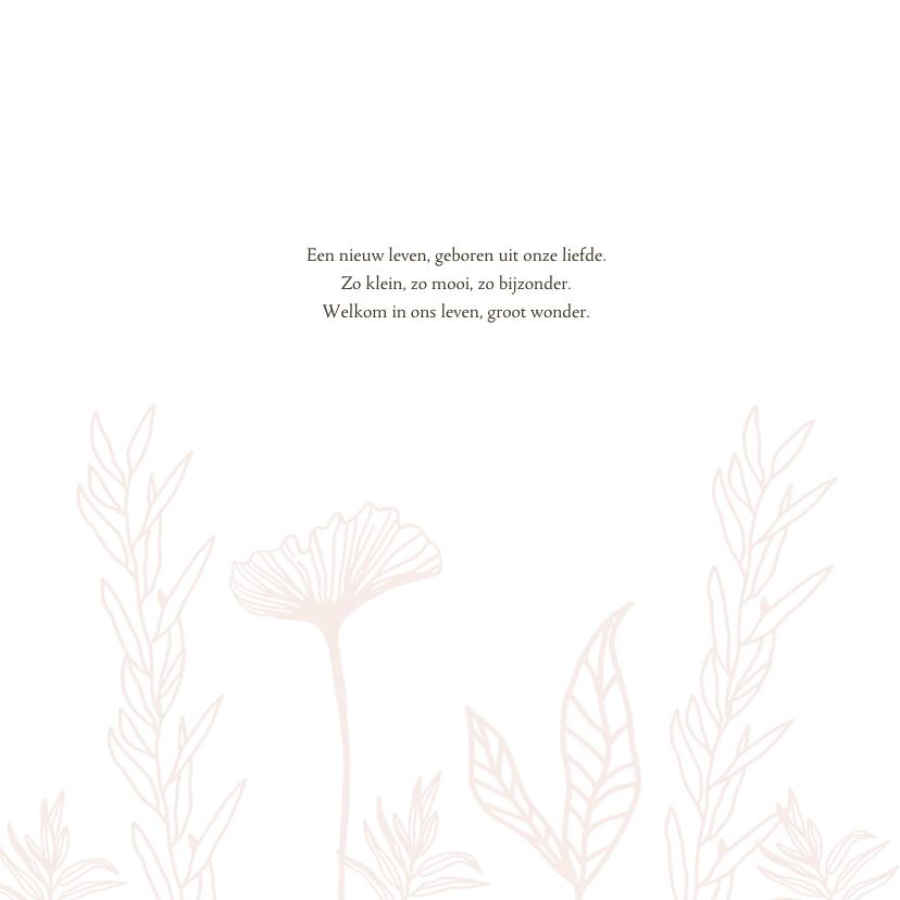 Geboortekaartje bloemenveld 2