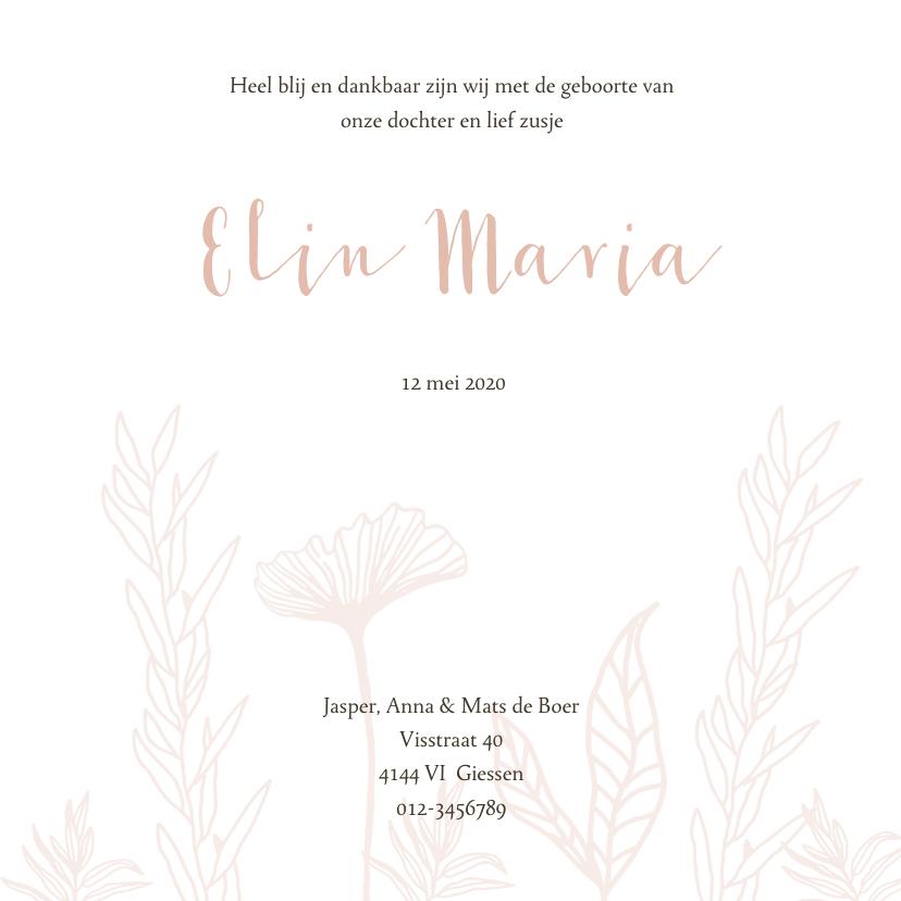 Geboortekaartje bloemenveld 3
