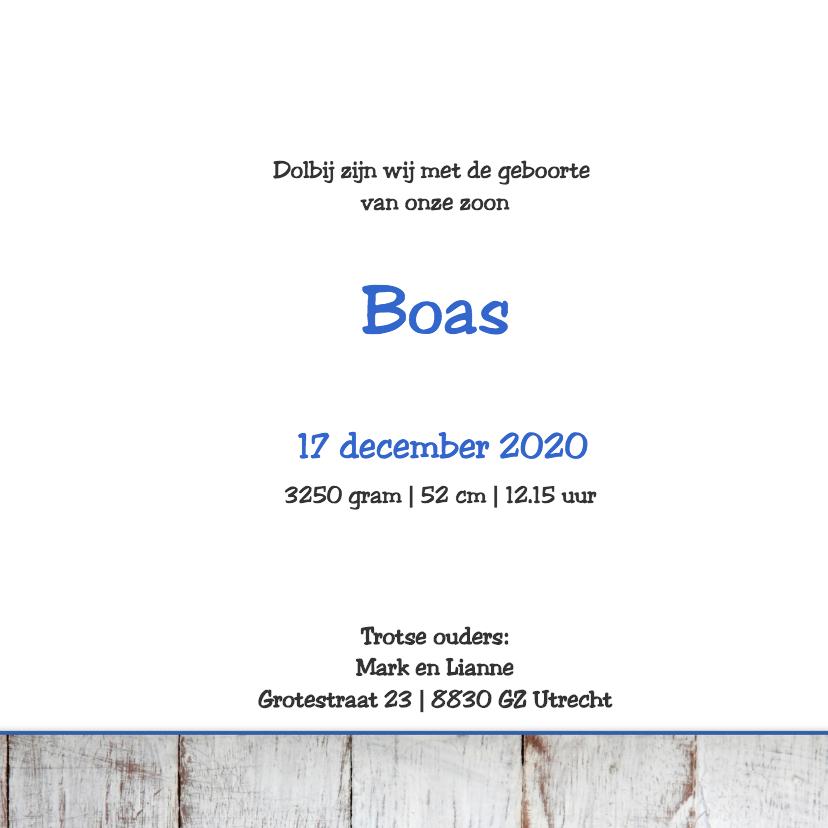 Geboortekaartje Boas 3
