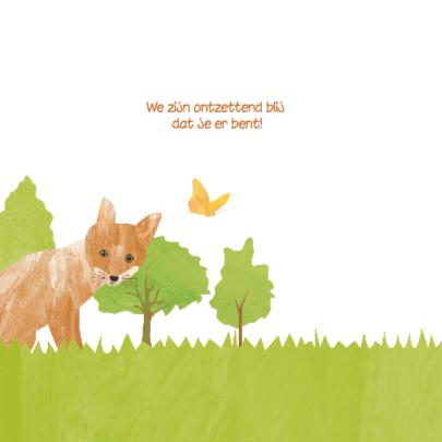 Geboortekaartje bosdieren 2