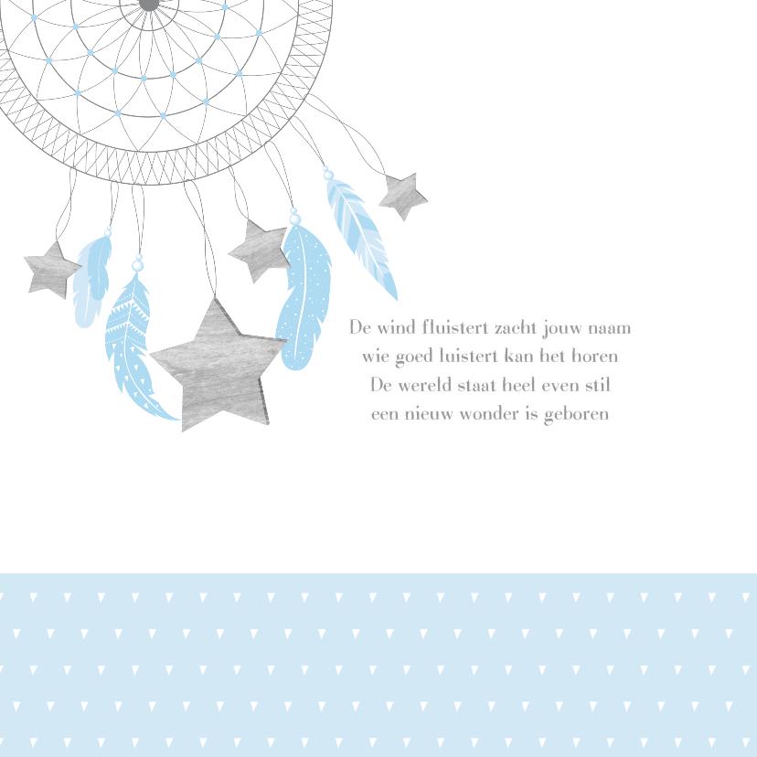 Geboortekaartje dromenvanger sterren jongen 2
