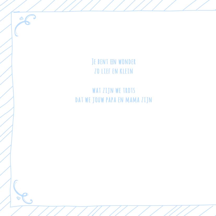 Geboortekaartje boy tekst blauw 2