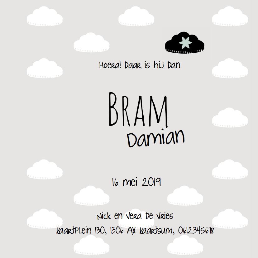 Geboortekaartje Bram - LO 3