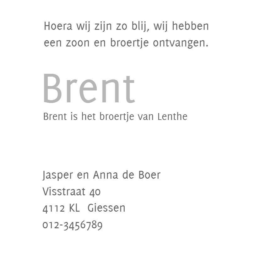 Geboortekaartje Brent 3