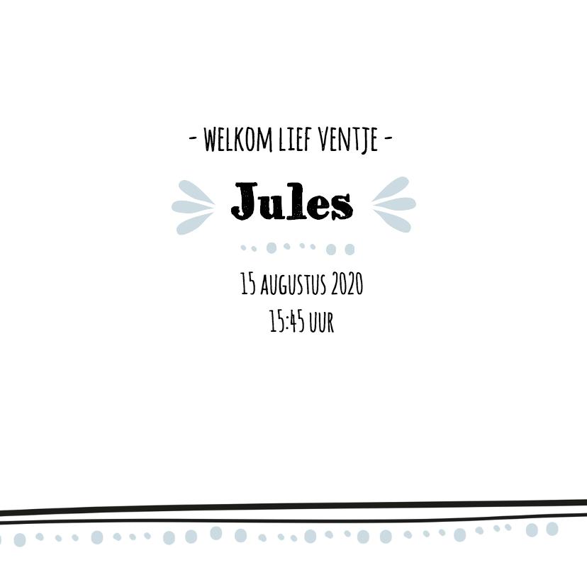 Geboortekaartje broertje Jules 3