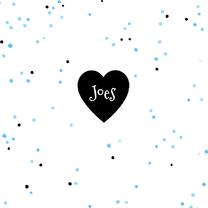 Geboortekaartjes - Geboortekaartje confetti blauw