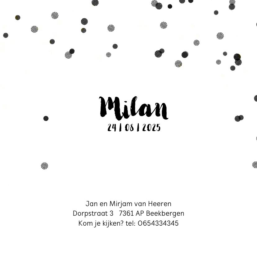 Geboortekaartje confetti foto 3