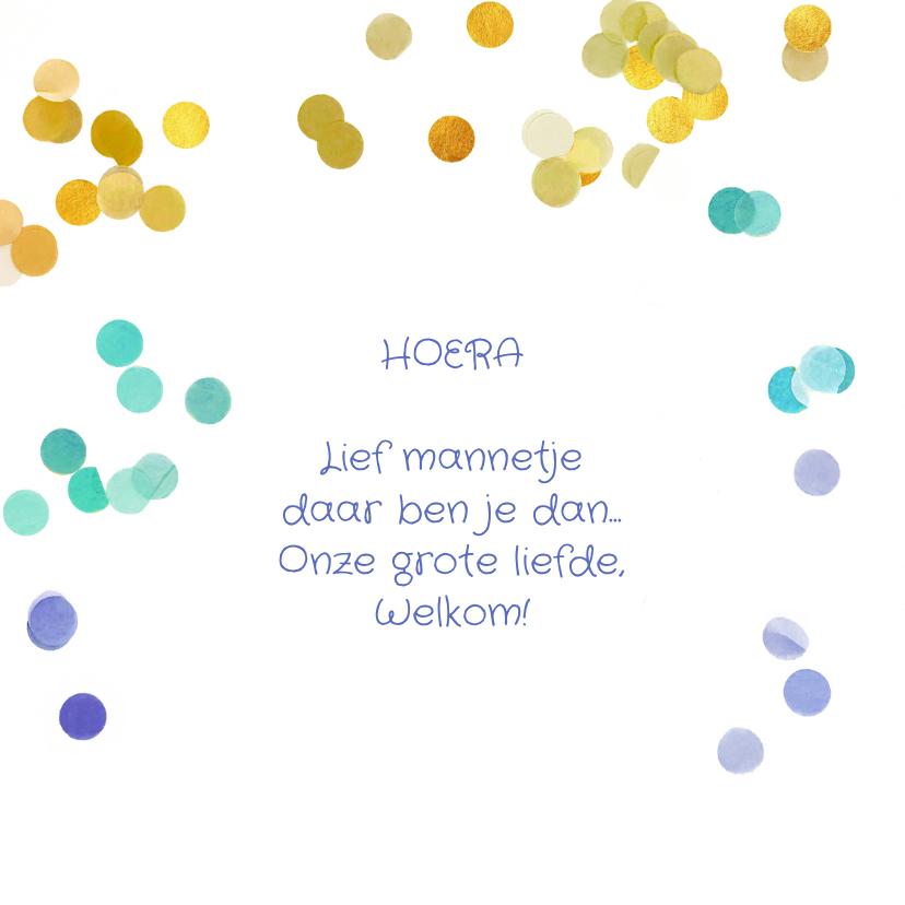 Geboortekaartje confetti jongen of meisje origineel 2