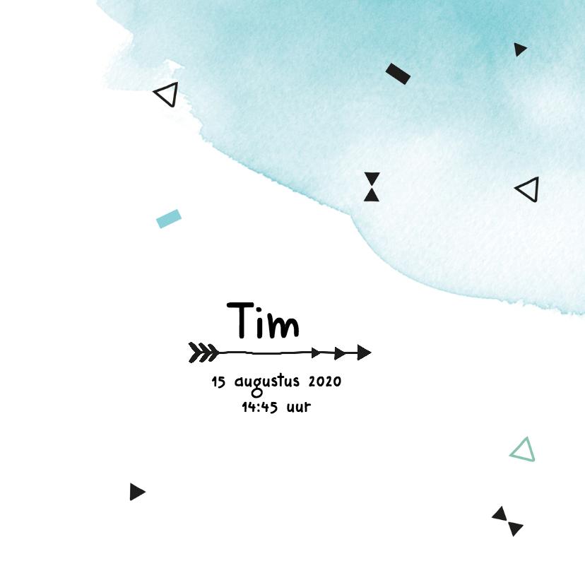 Geboortekaartje confetti Tim 3