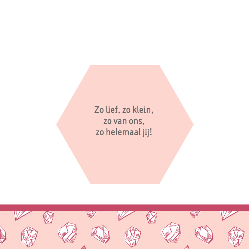 Geboortekaartje diamantjes 2