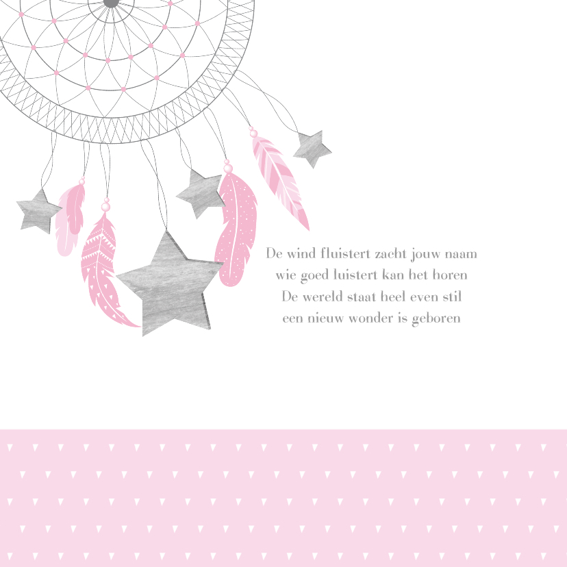 Geboortekaartje dromenvanger sterren meisje 2