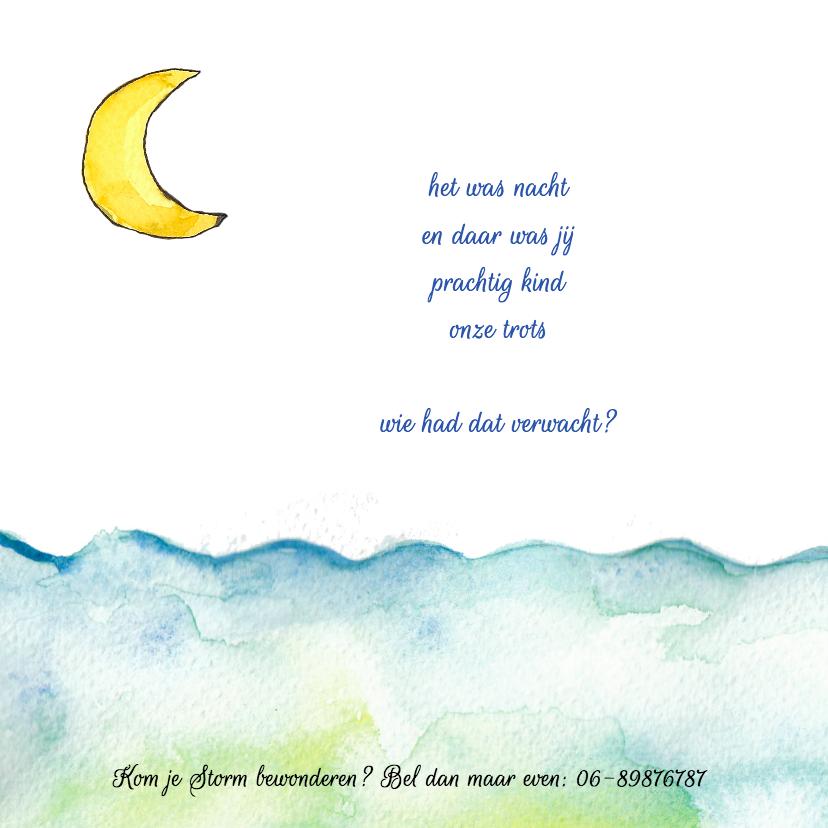 Geboortekaartje eendje zee maan 2