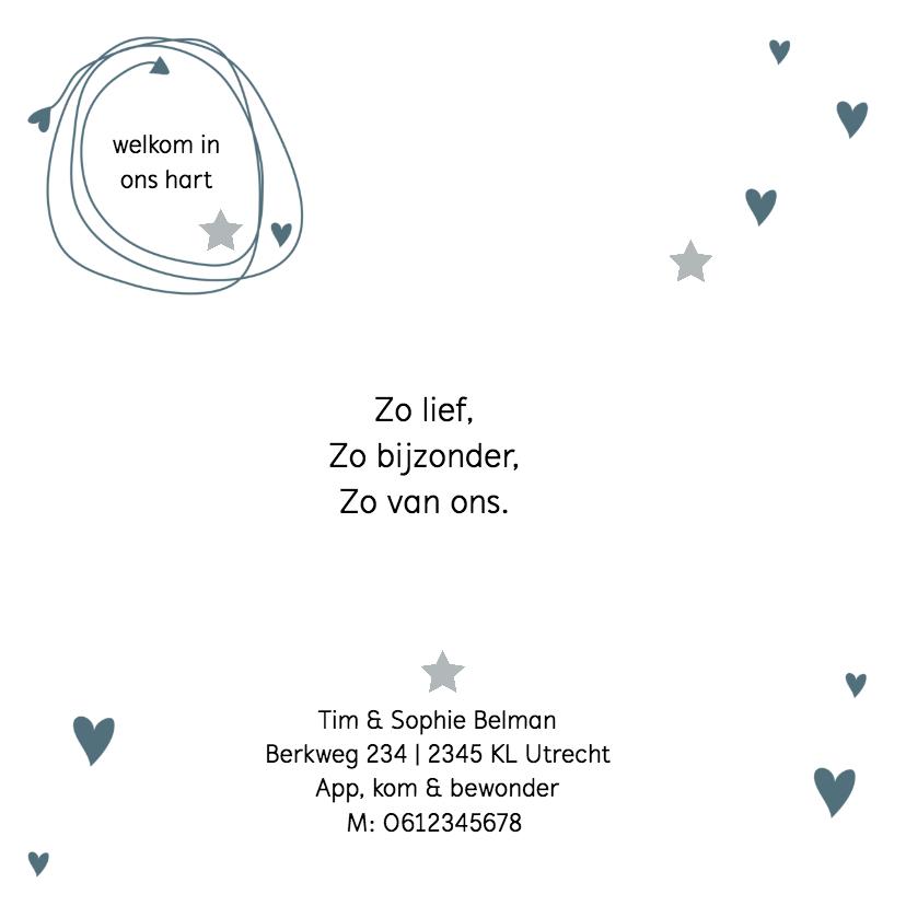 Geboortekaartje Eenvoudig Stoer 2
