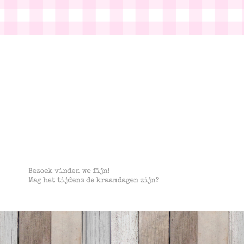 Geboortekaartje Eline label 2
