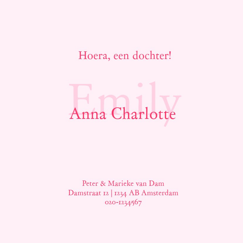 Geboortekaartje Emily foto 3