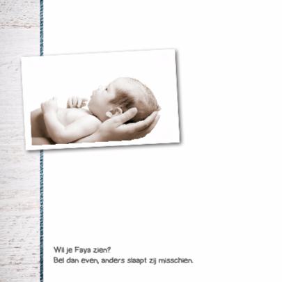 Geboortekaartje Faya 2