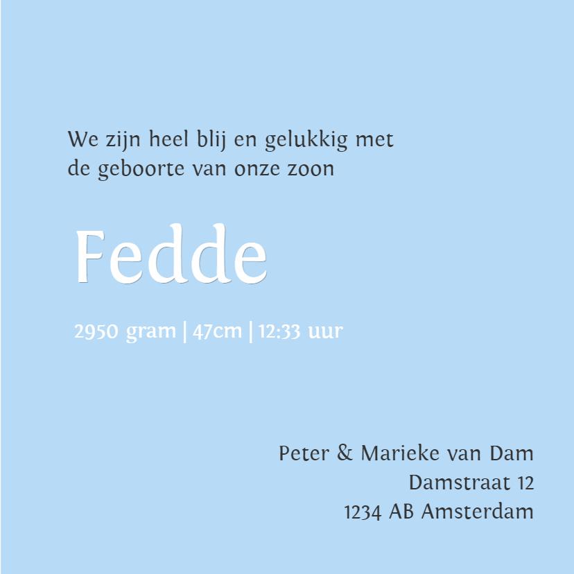 Geboortekaartje Fedde GF 3