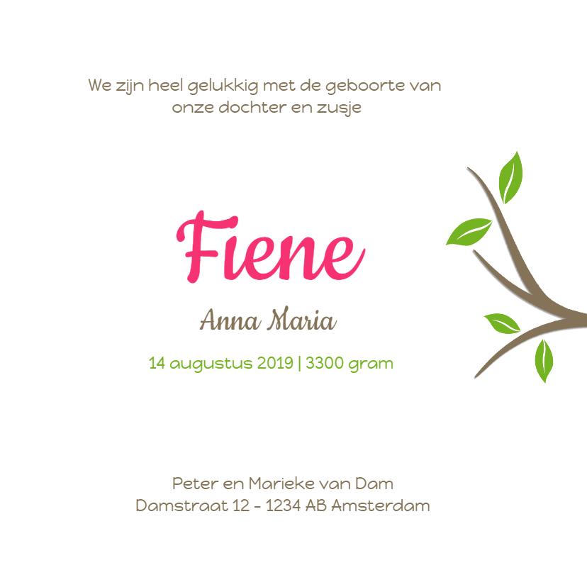 Geboortekaartje Fleur MB 3