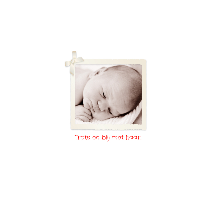 Geboortekaartje folie ballon hart 2