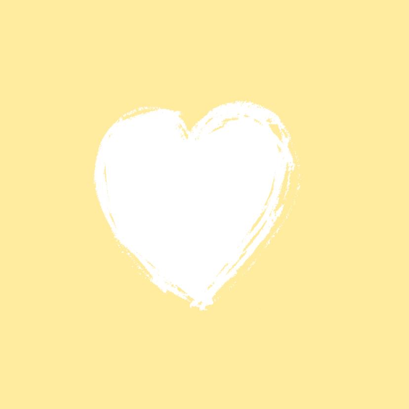 Geboortekaartje foto geel hartje 2
