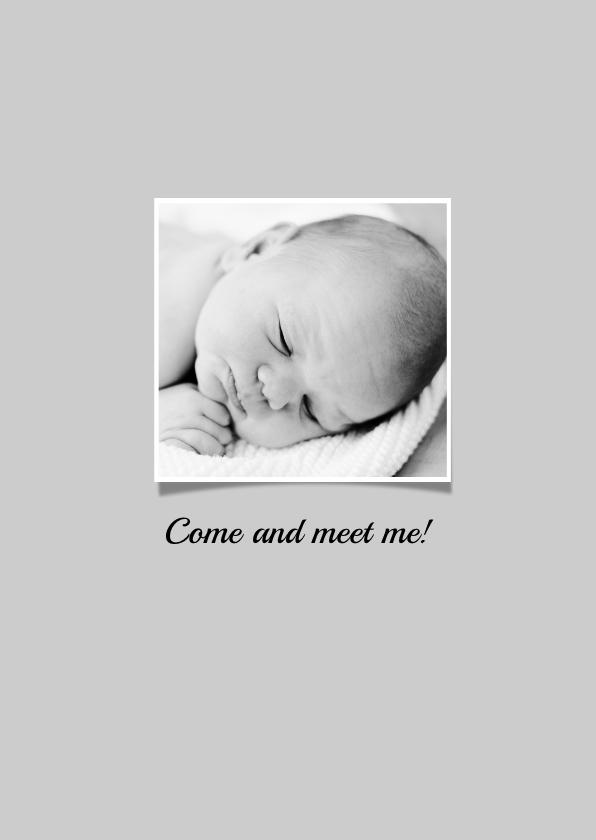 Geboortekaartje foto hello hip 2