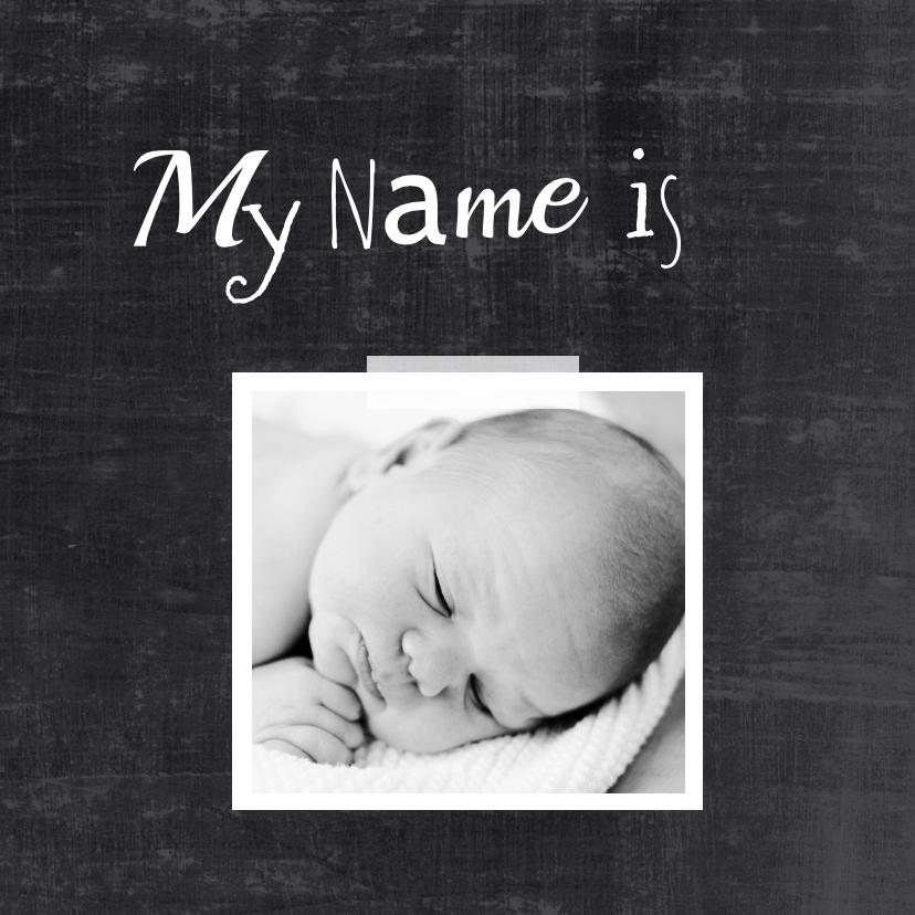 Geboortekaartje foto hip hello 2