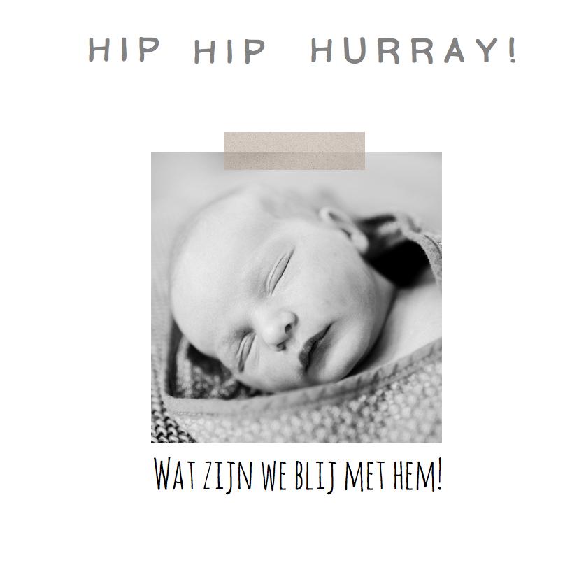 Geboortekaartje foto hip tekst 2