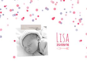 Geboortekaartjes - Geboortekaartje foto stip meisje