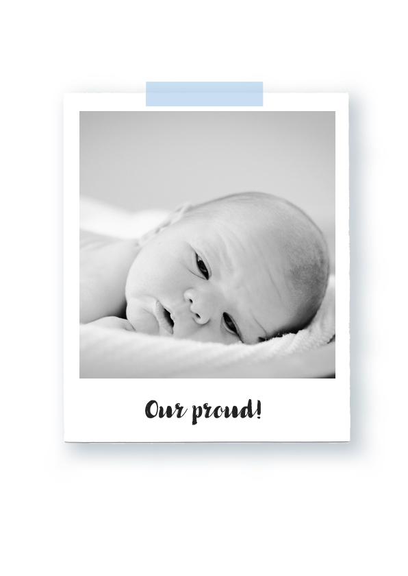 Geboortekaartje foto stoer 2