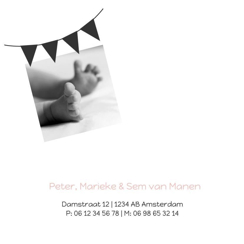 Geboortekaartje foto vlaggen 2 2
