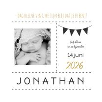Geboortekaartjes - Geboortekaartje foto vlaggen