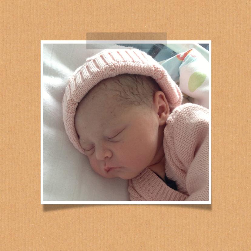 Geboortekaartje fotocollage meisje 2