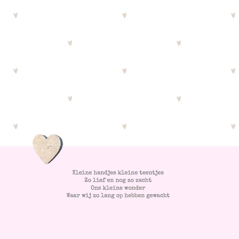 Geboortekaartje fotostrip hartje 2