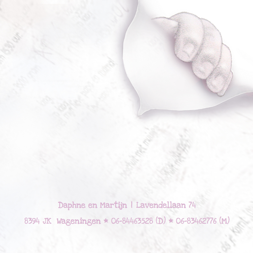 Geboortekaartje Getekend handje 3