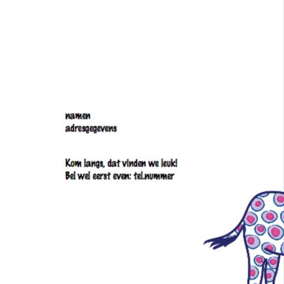 Geboortekaartje giraf meisje 2