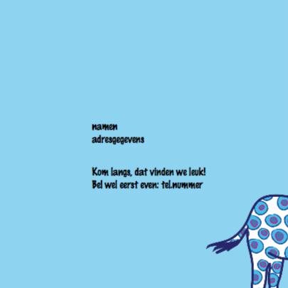 Geboortekaartje giraffe jongen 2
