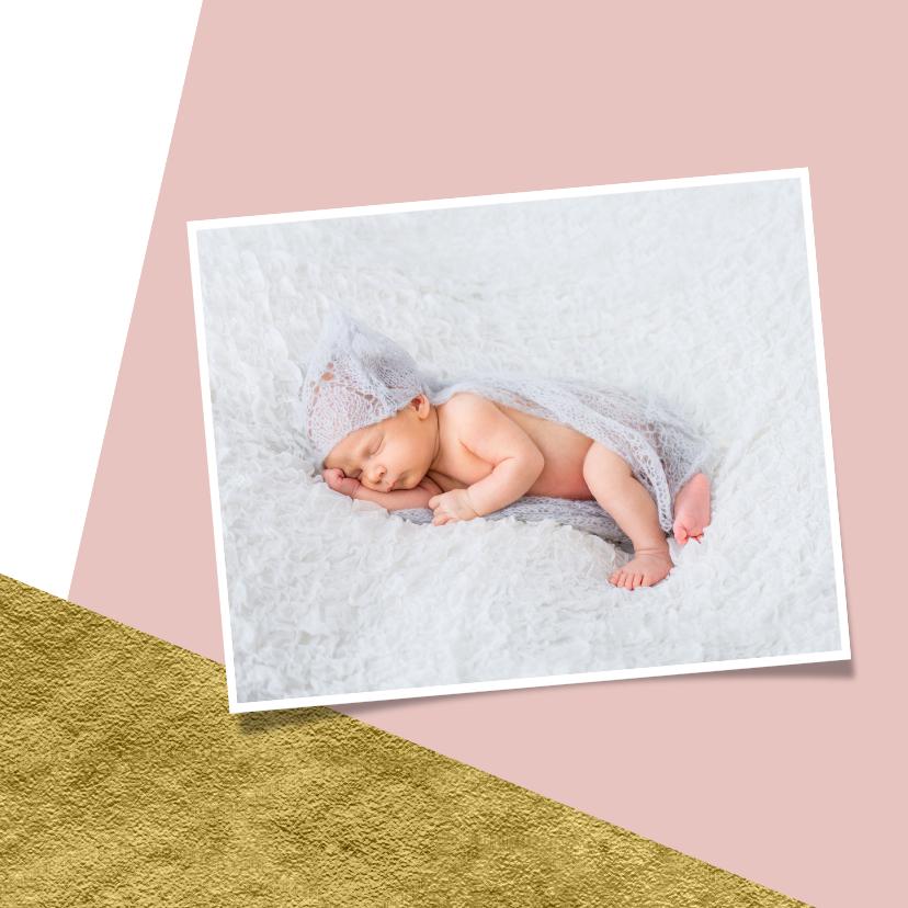 Geboortekaartje goud aanpasbare achtergrondkleur 2